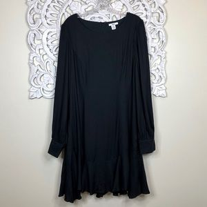 bar III Black Dress Long Sleeves Size 12